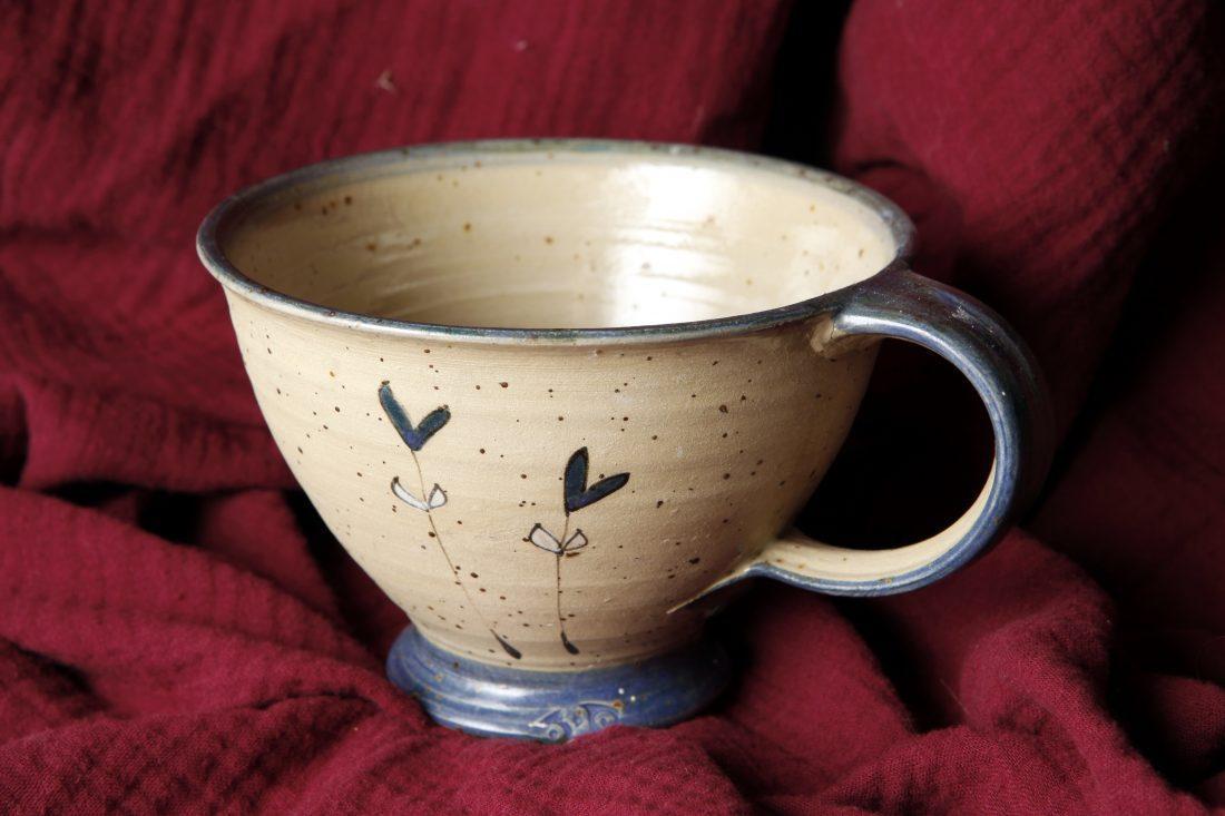 Milchkaffeetasse-Blau